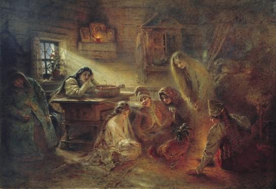svyatochniye_gadaniya_by_k-makovskiy_c-1905_atheism_museum
